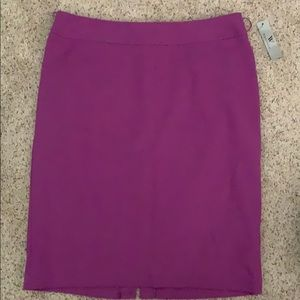 Worthington purple pencil skirt size 10